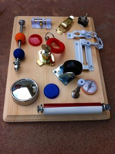 LockAndKey Busy Board by BusyBoardsPlus on Etsy, $39.00