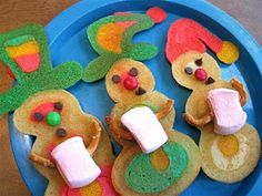 Make snowman family pancakes