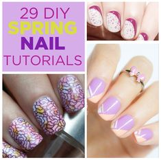 29 DIY Nail Tutorials You Need To Try This Spring - You can do this.