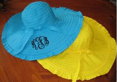 Fun and bright Marley Lilly Floppy beach hats!