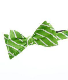 Neon Stripe Bow Tie