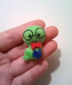 Bernie the Bookworm Mini Felt Plushie by heartfeltbymsmegas, $6.00