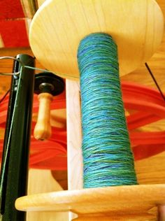 Nothing like a little bright, stain-your-fingers merino to spin when it's cold outside!