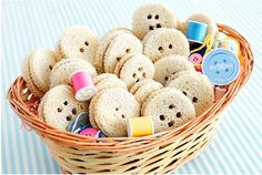Lalaloopsy Birthday Party food ideas - sandwich buttons.