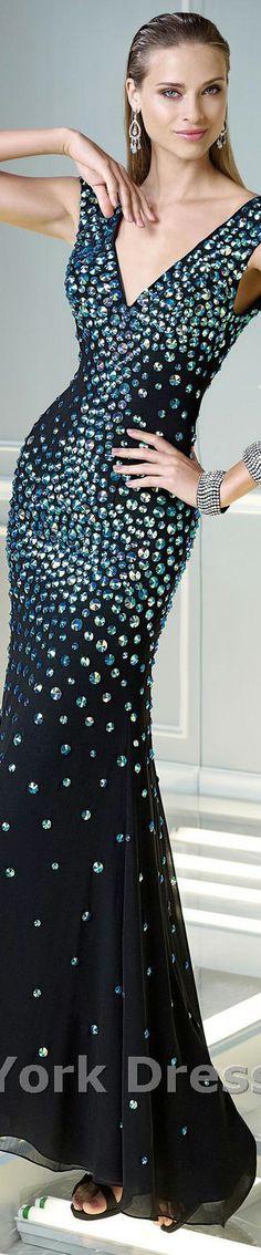 Alyce Paris design #elegant #large #formal #bejeweled #black #dress <3