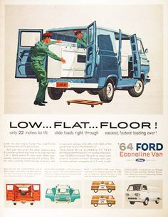 Another vintage Ford Econoline van ad. From 1964.