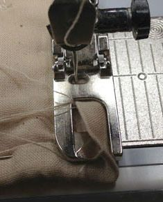 Binding with a Flat Fell Foot - Totally try this!