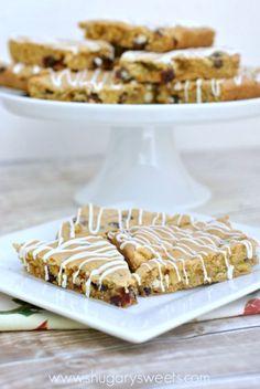 Cranberry Pistachio White Chocolate cookie bar recipe