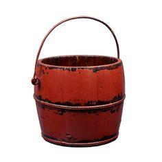 Antique Revival Vintage Round Kitchen Bucket with Iron Handle | Wayfair