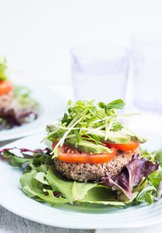 Black Bean Quinoa Burgers   Good Life Eats   #glutenfree