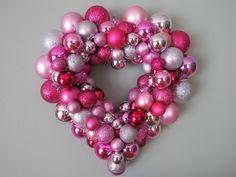 VALENTINE'S DAY HEART Ornament Wreath heart ornament, valentine day, valentin fun, ornament wreath, wreaths