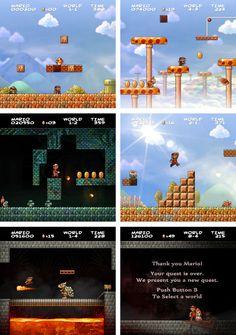 Super Mario Bros HD by *JINNdev #nintendo #mario