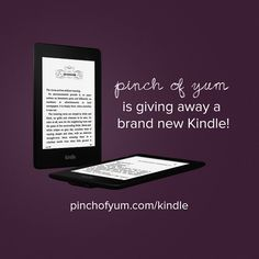 Kindle giveaway from Pinch of Yum
