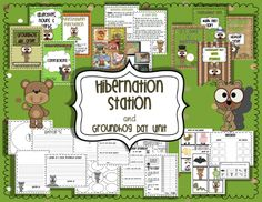 winter, grade fun, bear activ, hibern station, ground hog, kindergarten scienc, freebi, teach idea, groundhog day