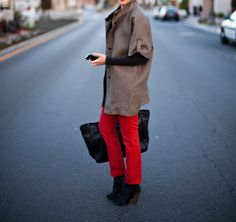 love everything Emerson Made, #red, #short-sleeve coat, #EmersonMade