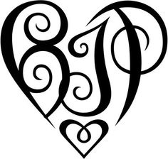 Monogram tattoo