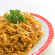 Noodles with Curried Peanut Sauce