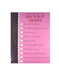 dare to checklist