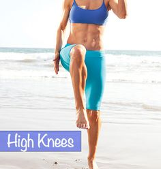 17 minute workout that includes lots of high knees - gets your heart rate going and the sweat pouring! :P