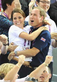Kate Middleton and Prince William at the Olympics 2012.