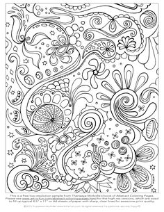 Free Printable Abstract Coloring Pages for Adults | Free Abstract Coloring Page to Print: Detailed, Psychedelic Abstract ...