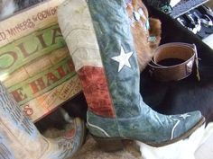 Texas flag boots