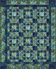 Batik Quilt Patterns | Home / Get inspired / Free quilt patterns / Midnight sky