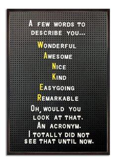 Awesome acronyms