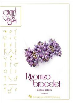 Bracelet tutorial / pattern Rizomizo with Rizo by beadsbyvezsuzsi, $13.00