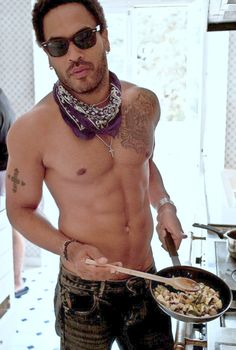 Love Lenny Kravitz..what ya cooking?