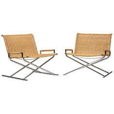 Pair of Sled chairs by Ward Bennett