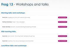 Frog 13 - Workshops and talks