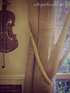 burlap curtains #diy