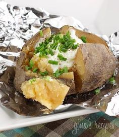Crock-pot baked potatoes! Must try!