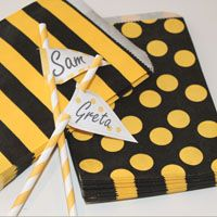 Party Bags ............... 48 Yellow and Black Dots and Stripes Assortment