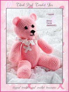 Think Pink Crocheted Boo Boo Bear