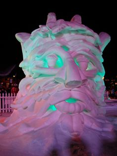 International Snow Sculptures in Breckenridge, CO.  It's an amazing event