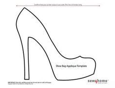 Shoe bag applique template