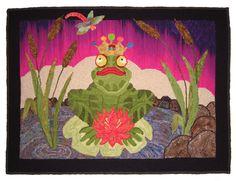 frog tradit rug, rug hook, anim tradit, hook rug, artsi frog, rug anim, frogs, kisses