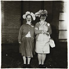 Diane Arbus - Untitled I, 1970-71 - Gelatin silver print, printed later by Neil Selkirk. 14 3/4 x 14 1/2 in. (37.5 x 36.8 cm).