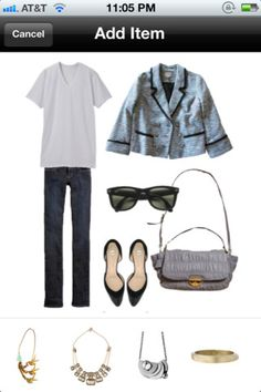 iPhone App Stylebook. Import clothes from your own closet and create magazine-style outfits to help you plan what to wear...