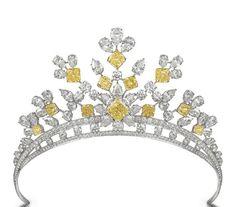 graff tiara, yellow diamond, tiara yellow