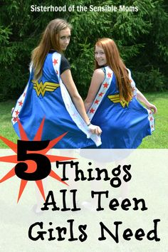 """Money can't buy these """"Five Things All Teen Girls Need."""" #parenting - Sisterhood of the Sensible Moms"""