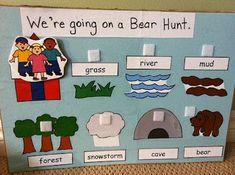bear book activities - going on a bear hunt, goldilocks and the three bears, and brown bear, brown bear