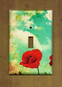 Poppy light switch cover