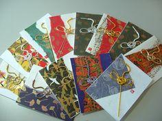 Exquisite Handcrafted Japanese Washi Paper cards by WafuArtsandCrafts ... mizuhiki bird embellishment ...