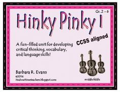 Hinky Pinky I:  word riddles with rhyming, 2 syllable answers. Tons of fun and great learning. $ #CCSS #Gifted #HinkPinks #criticalthinking #higherorderthinkingskills #enrichment #BarbEvans #itsabouttimeteachers