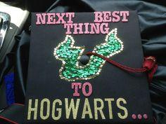 A Harry Potter fan's graduation cap.