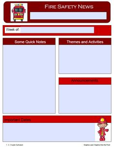 I have added a fire safety themes newsletter template and end of week fire safety certificates to 1 - 2 - 3 Learn Curriculum this morning. More to be added... :)