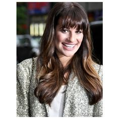Lea Michele Is All Smiles At Letterman ❤ liked on Polyvore